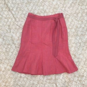 Ann Taylor girly pink flare skirt